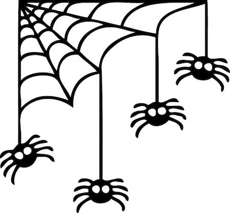 Corner Spider Web Halloween Decal - Trendy Wall Designs