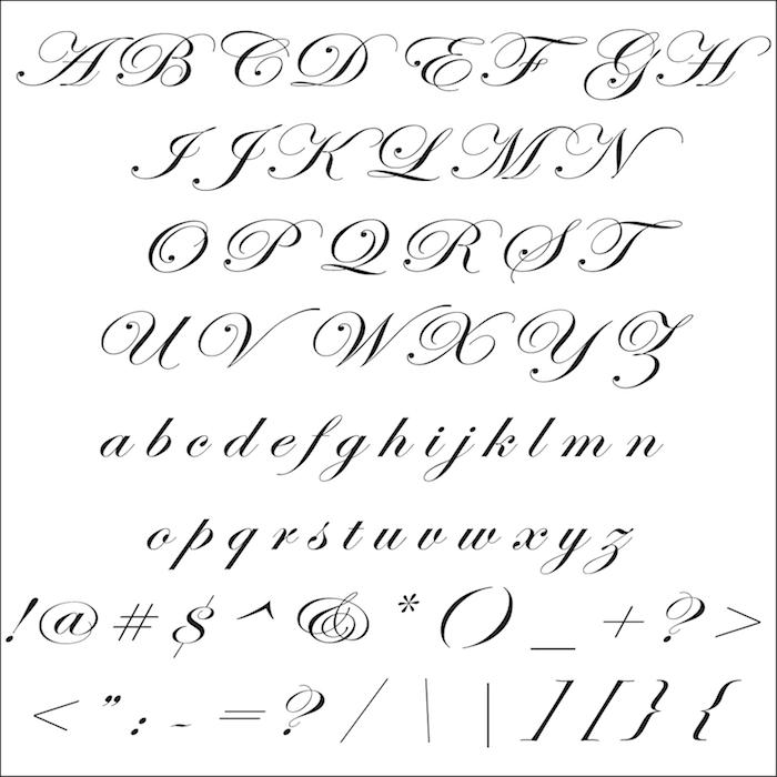 Customizable Edwardian Script Font Letters & Custom Name ...